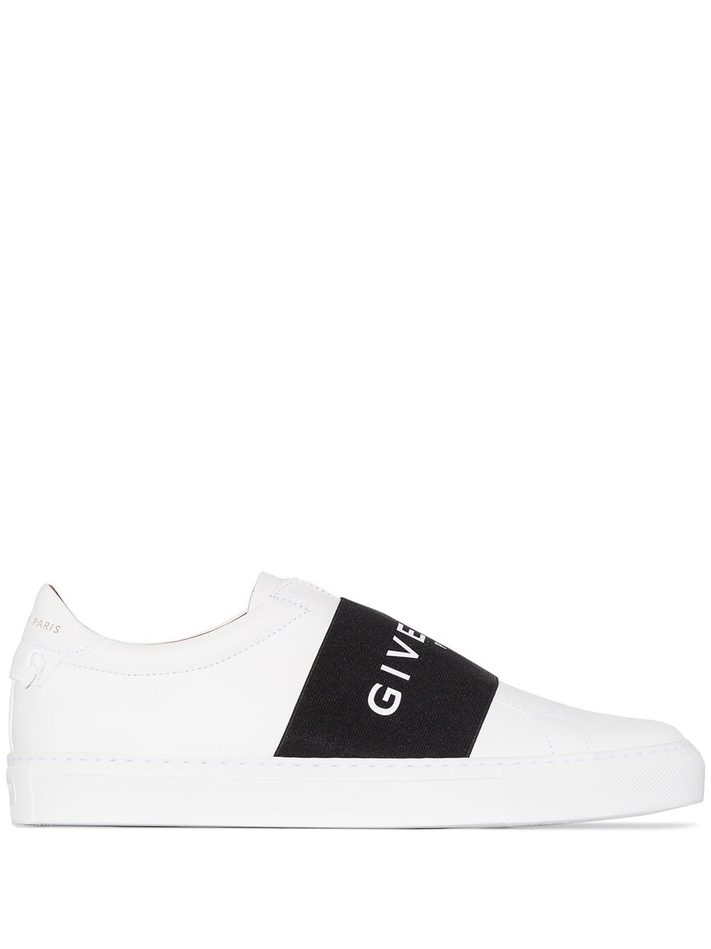 white calf leather round toe slip with black lettering logo band GIVENCHY |  | BE0005E0DD116