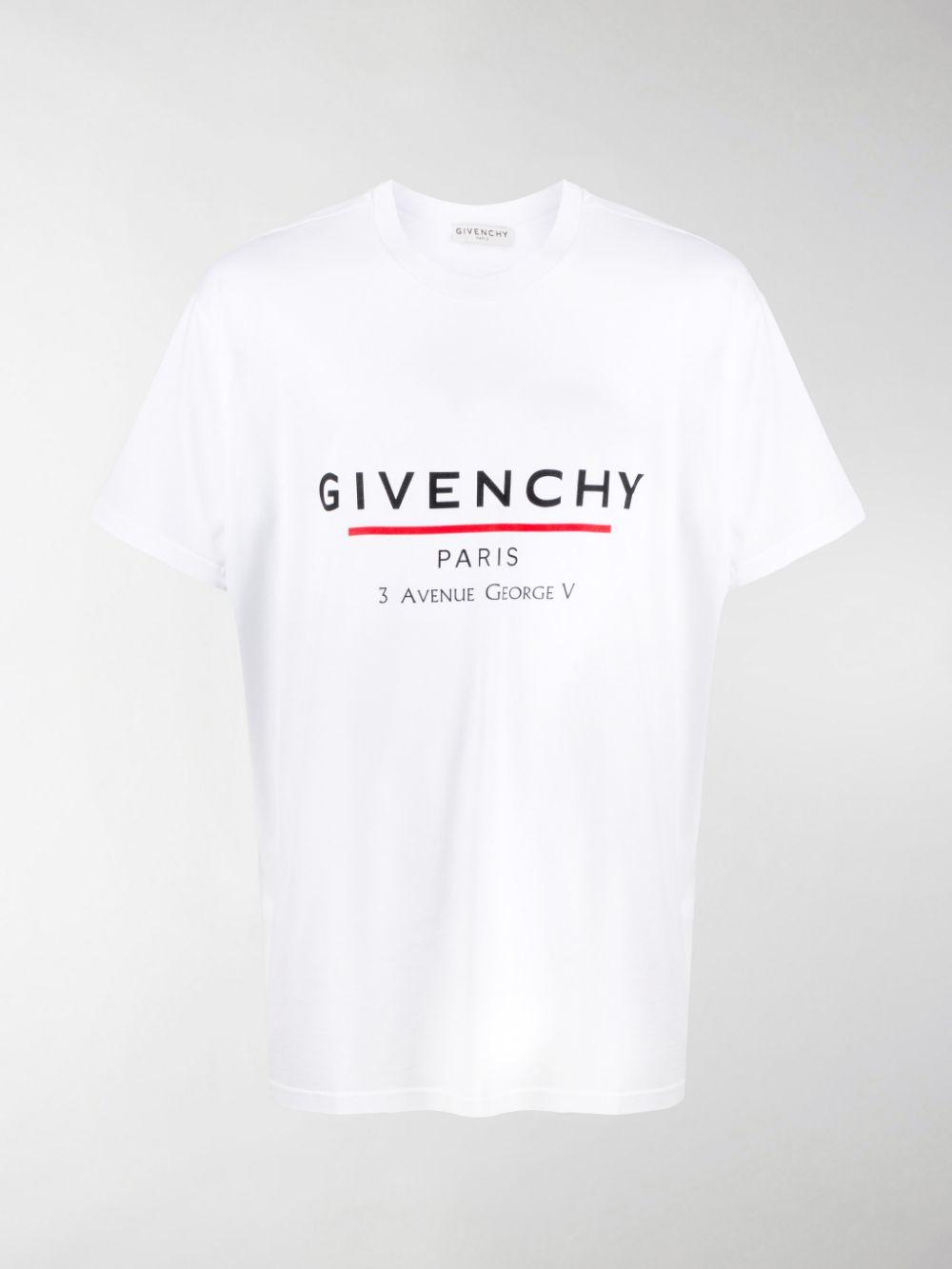 t.shirt stile girocollo in jersey di cotone con indirizzo del flagship store Givenchy a Parigi GIVENCHY | T-shirt | BM70U23002100