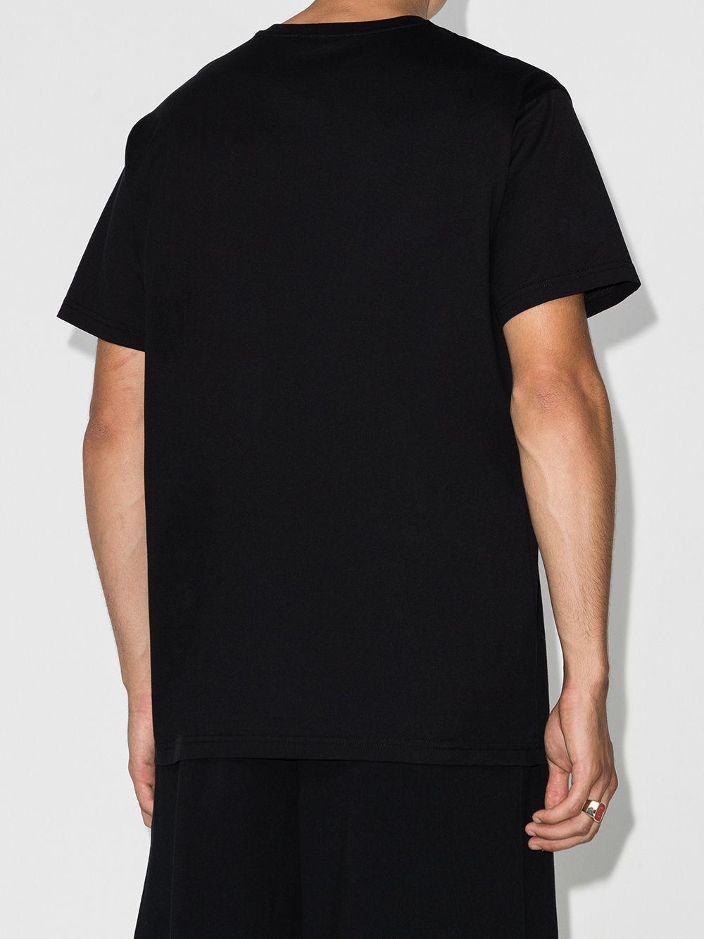 T-shirt nera con stampa multicolor Givenchy GIVENCHY   T-shirt   BM70YQ3002001