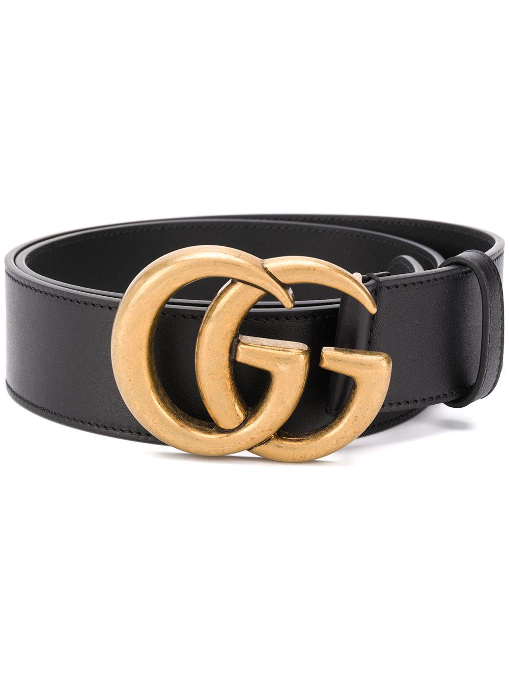 Cintura GG Marmont 4 cm in pelle di vitello liscia nera GUCCI | Cinture | 397660-AP0071000