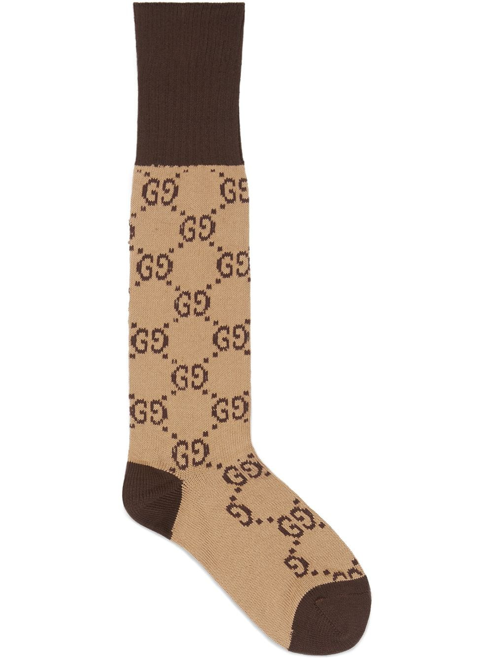 Gucci all over print brown and beige cotton socks GUCCI |  | 471093-4G5929764