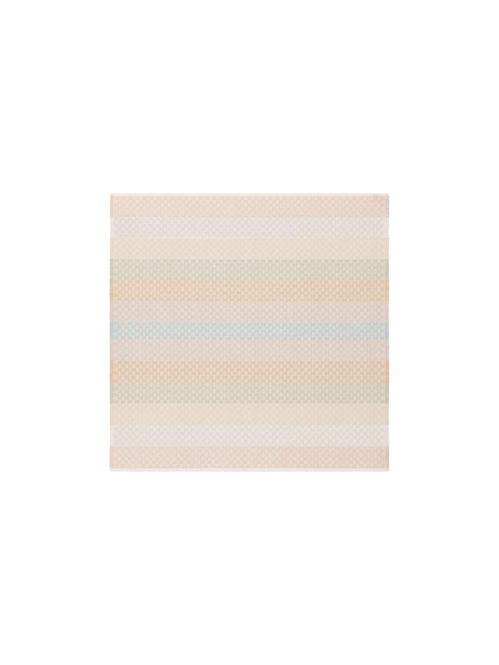 sciarpa 130x130 viscosa cotone fasce+gg lurex colorato bordi frange GUCCI   Sciarpe e foulards   558274-3GC469288