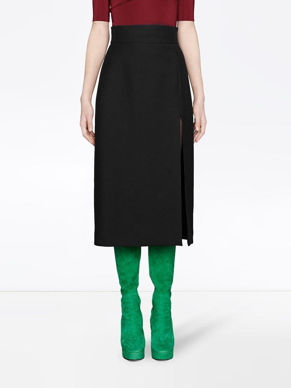 black high waist silk-wool blend skirt  GUCCI |  | 623173-ZAD881000