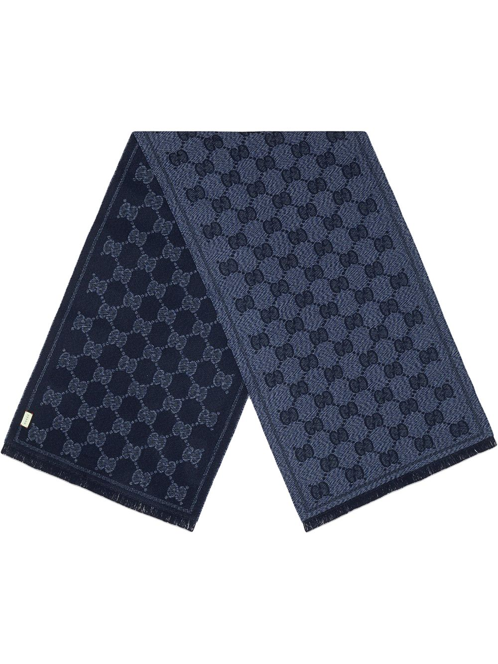 sciarpa in 100% lana blu con motivo Gucci Supreme all over GUCCI | Sciarpe e foulards | 625898-4G0594068