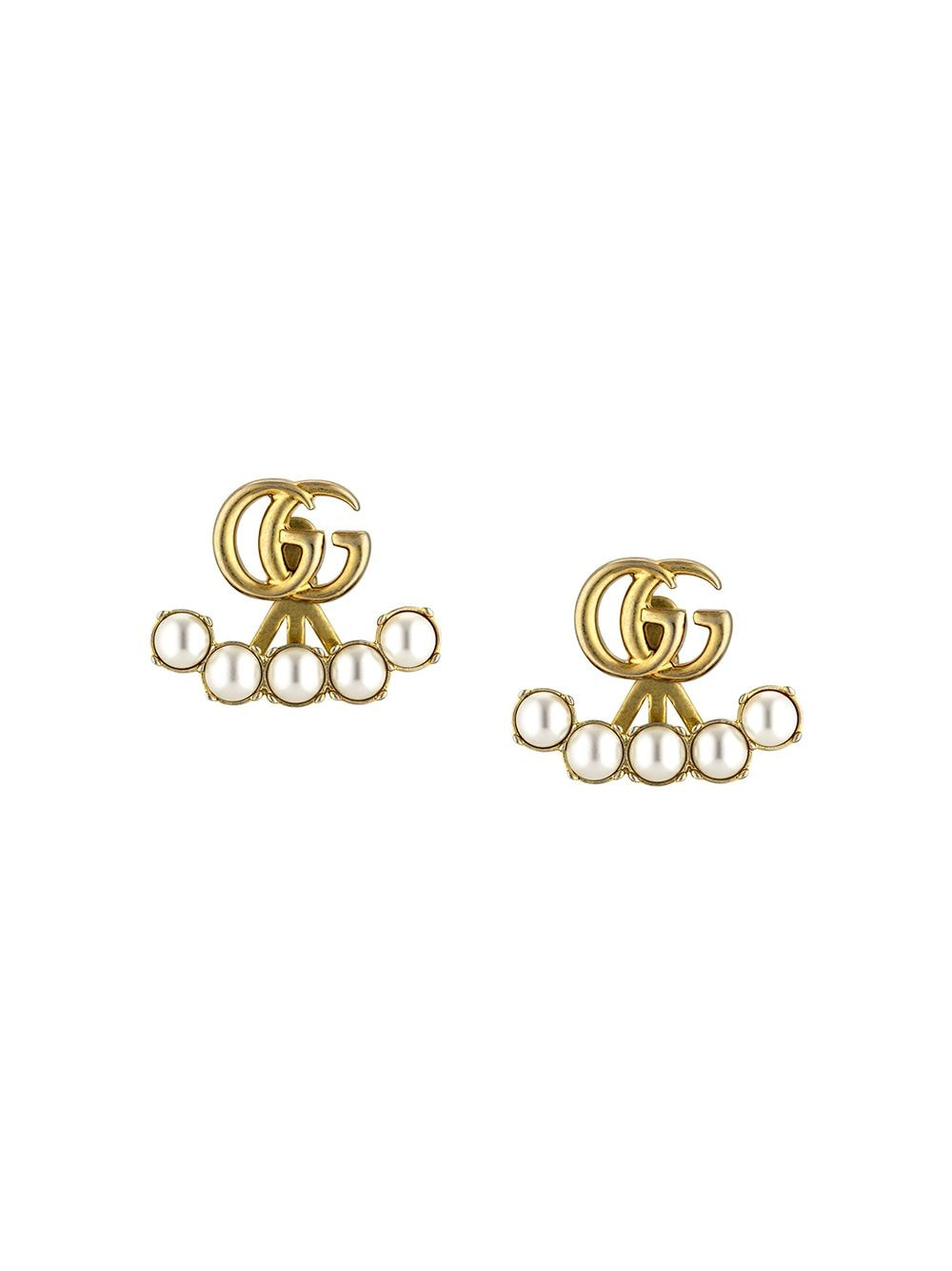 Gold-tone double G earrings featuring white pearls GUCCI |  | 629565-I46208078