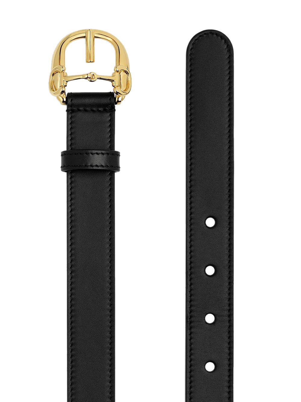 cintura in pelle di vitello 2,5 nera con fibbia Gucci Horsebit GUCCI   Cinture   633125-BGH0G1000