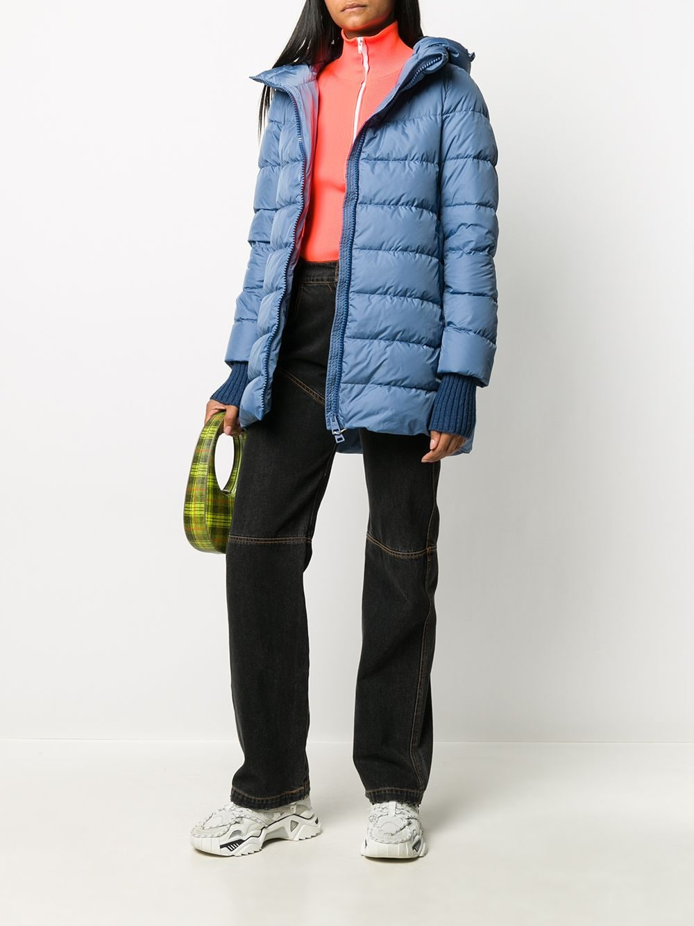 Cornflower blue padded hooded coat featuring high neck HERNO |  | PI0660D-120049075
