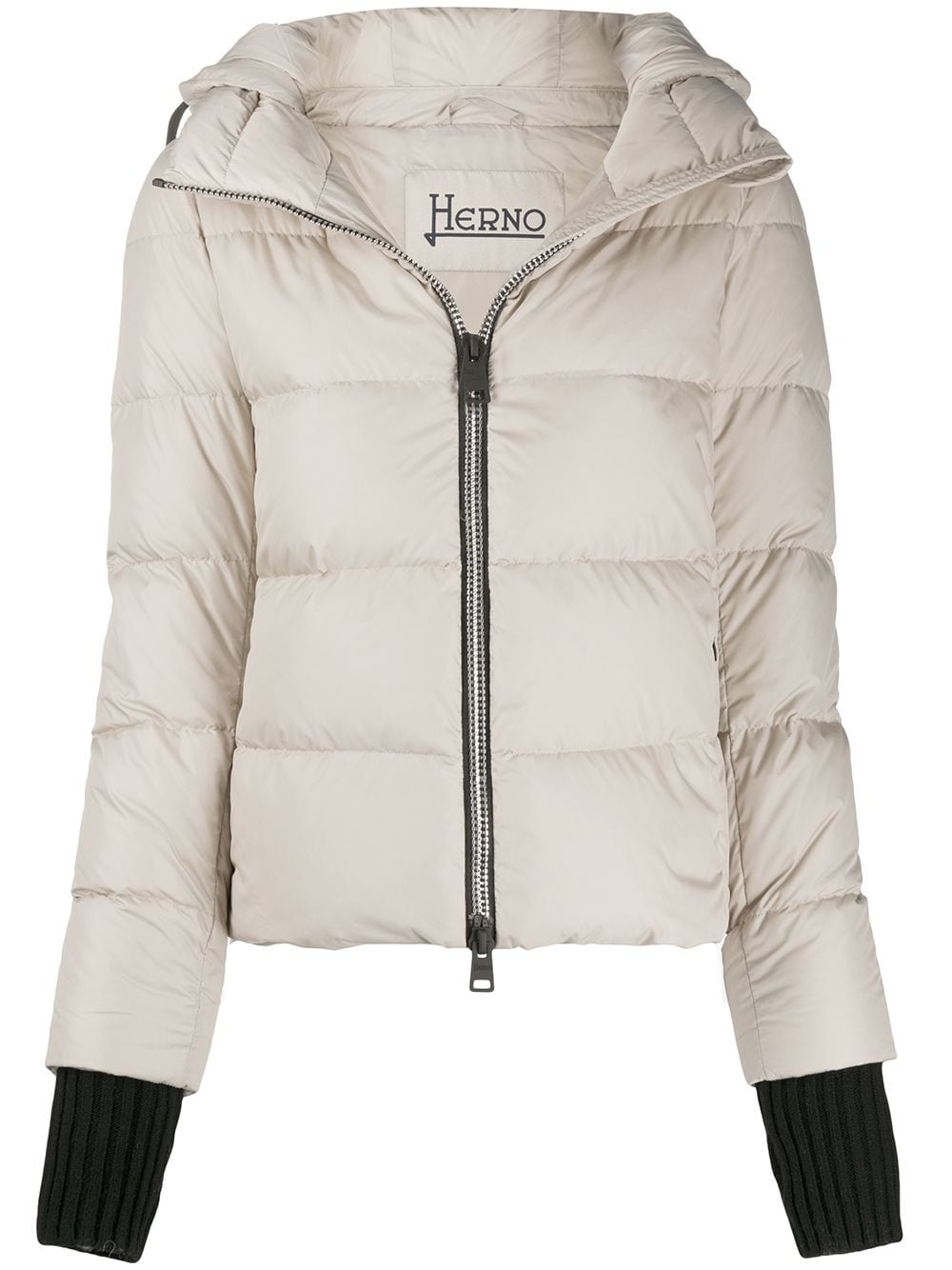down jacket in putty-colored goose with black detachable gloves HERNO |  | PI1117D-120041985