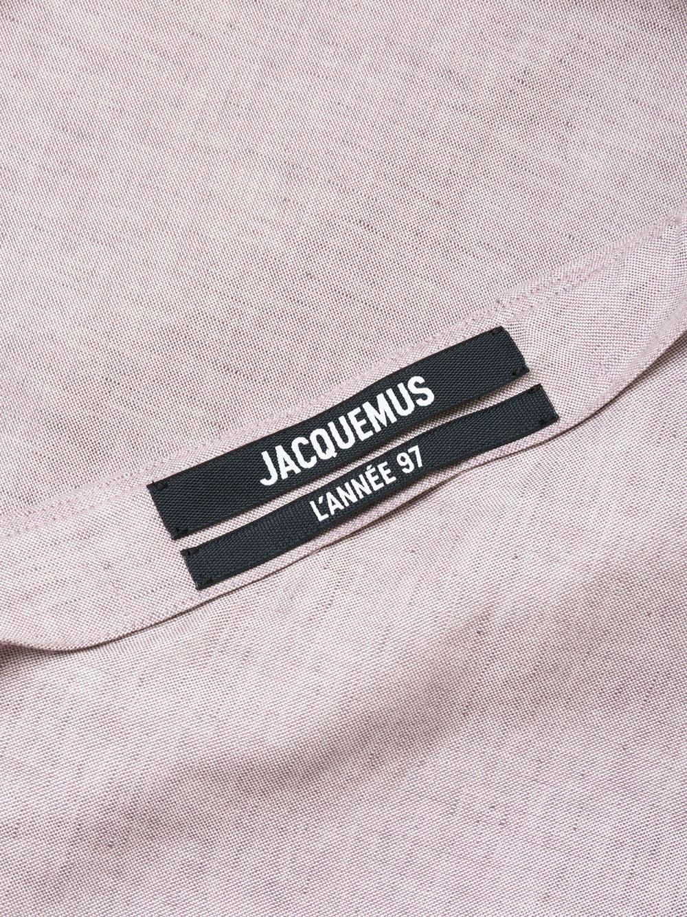 Abito La Robe Pampelonne in morbido misto cotone-lino viola con spalline sottili JACQUEMUS | Abiti | 203DR01-128640