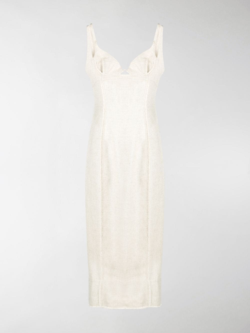 Beige panelled seam-detail dress featuring spaghetti straps JACQUEMUS |  | 203DR06-124140