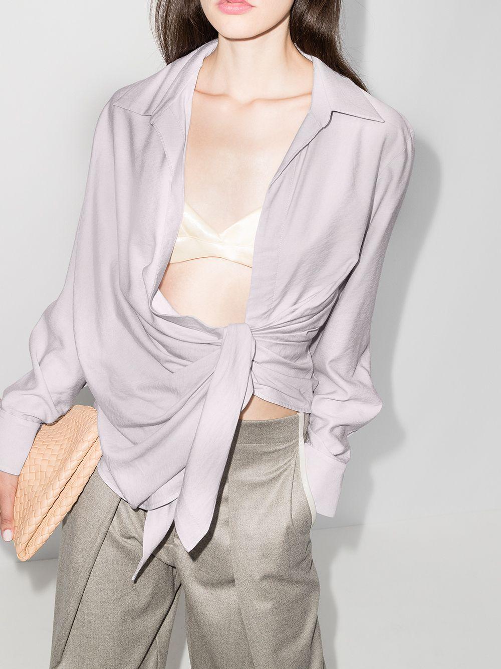 Blusa lilla Le Bahi con drappeggio JACQUEMUS | Camicie | 203SH02-108630