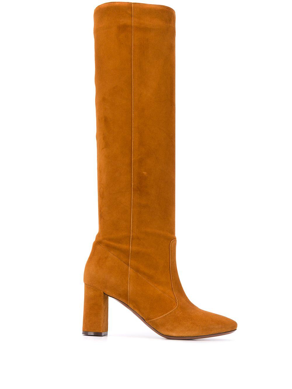 stivali con tacco alto al ginocchio in camoscio marrone chiaro L'AUTRE CHOSE | Stivali | LDL078.75WP05402090