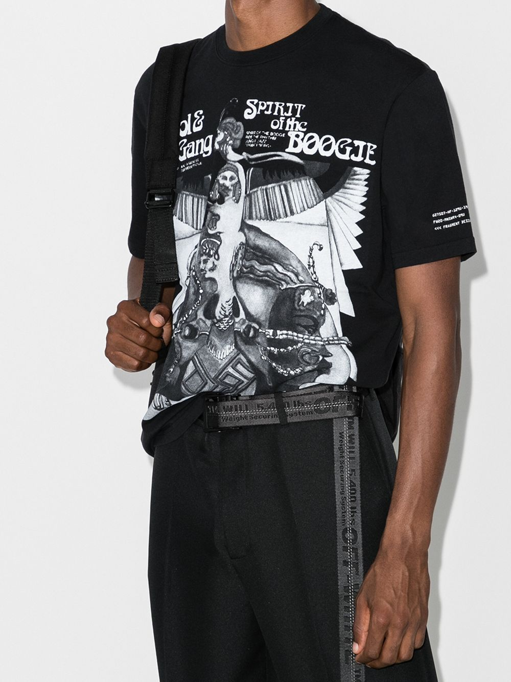 black cotton t.shirt with front grey massive print MONCLER GENIUS |  | 8C705-10-8392B999
