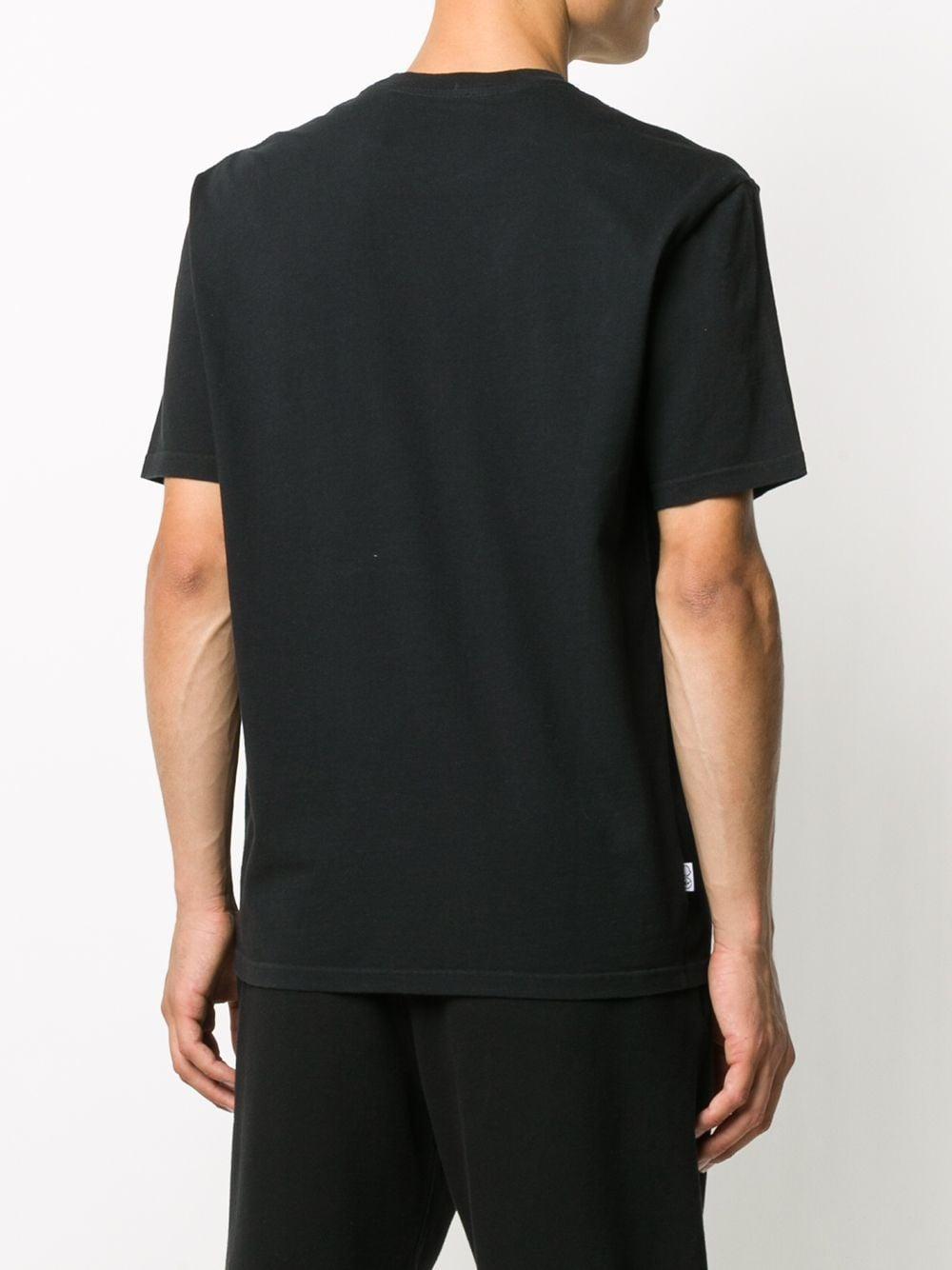 black cotton Moncler Genius x Fragment Design white graffiti print t.shirt MONCLER GENIUS |  | 8C707-10-8392B999