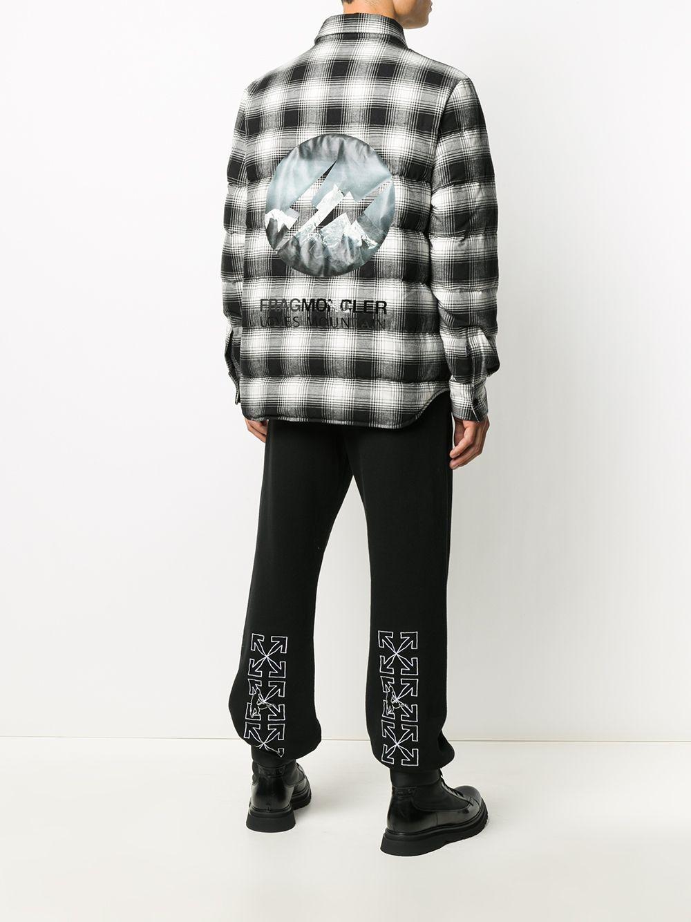 giubbino Denver in cotone bianco e nero di Moncler x Fragment Design MONCLER GENIUS | Piumini | DANVER 1B513-10-549XX990