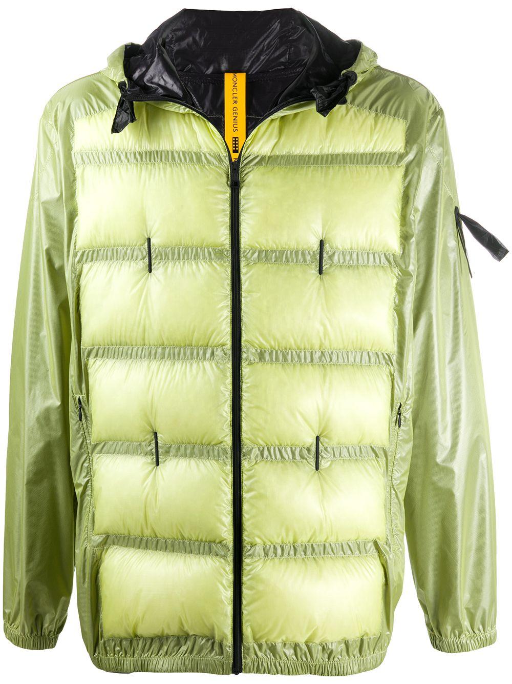 piumino Hiles Moncler Genius x Craig Green giallo Chartreuse con design trapuntato e imbottito MONCLER GENIUS | Piumini | HILES 1A502-10-C0624112