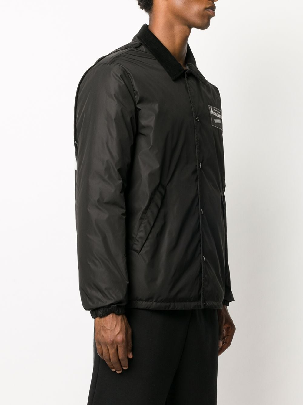 Kurn black jacket with side pockets and back logo print  MONCLER GENIUS |  | KURN 1B520-10-53A10999