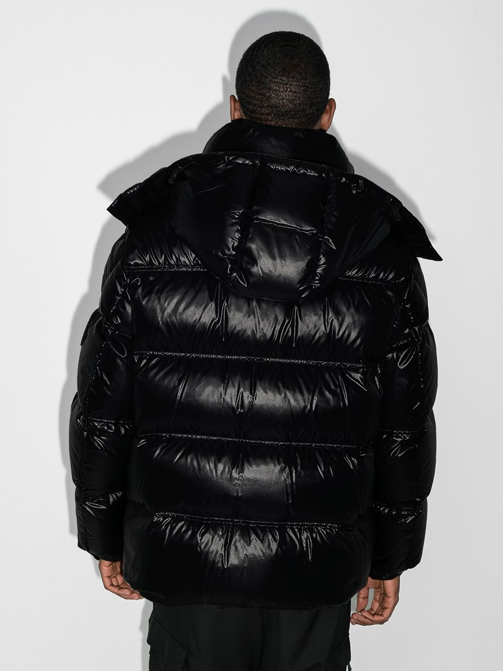 Black Tethys patented puffer jacket  featuring classic hood MONCLER GENIUS |  | TETHYS 1B521-00-68950999