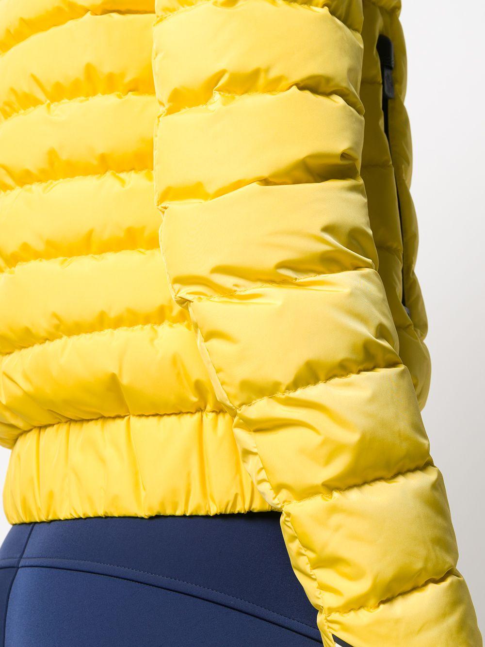 Piumino giallo a maniche lunghe in piuma d'oca con collo a imbuto MONCLER GRENOBLE   Giubbini   VONNE 1A524-00-5399E107