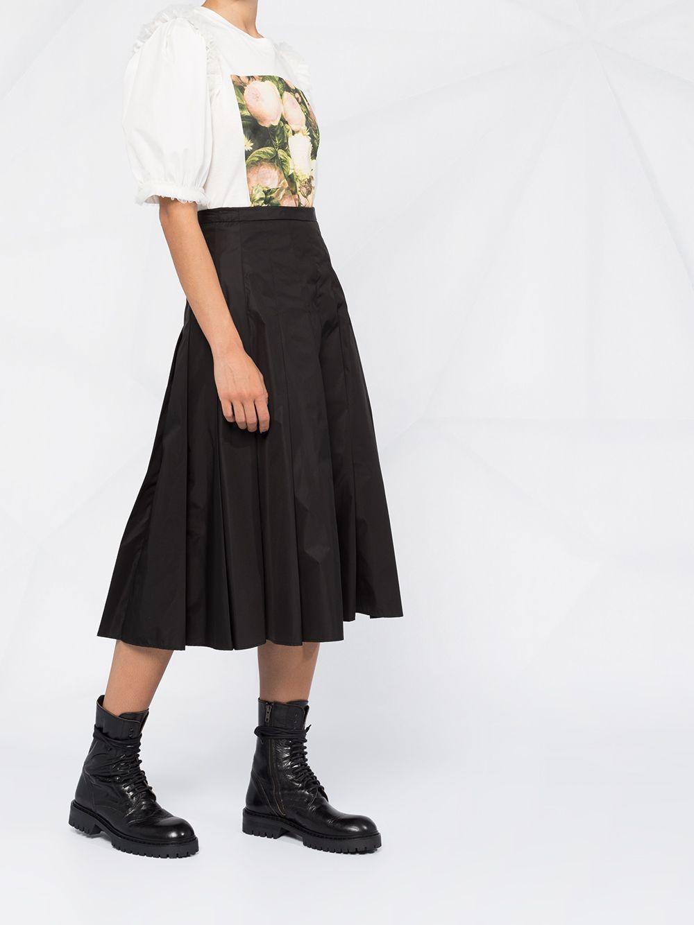 black nylon pleated midi skirt MONCLER      2D712-00-C0068999