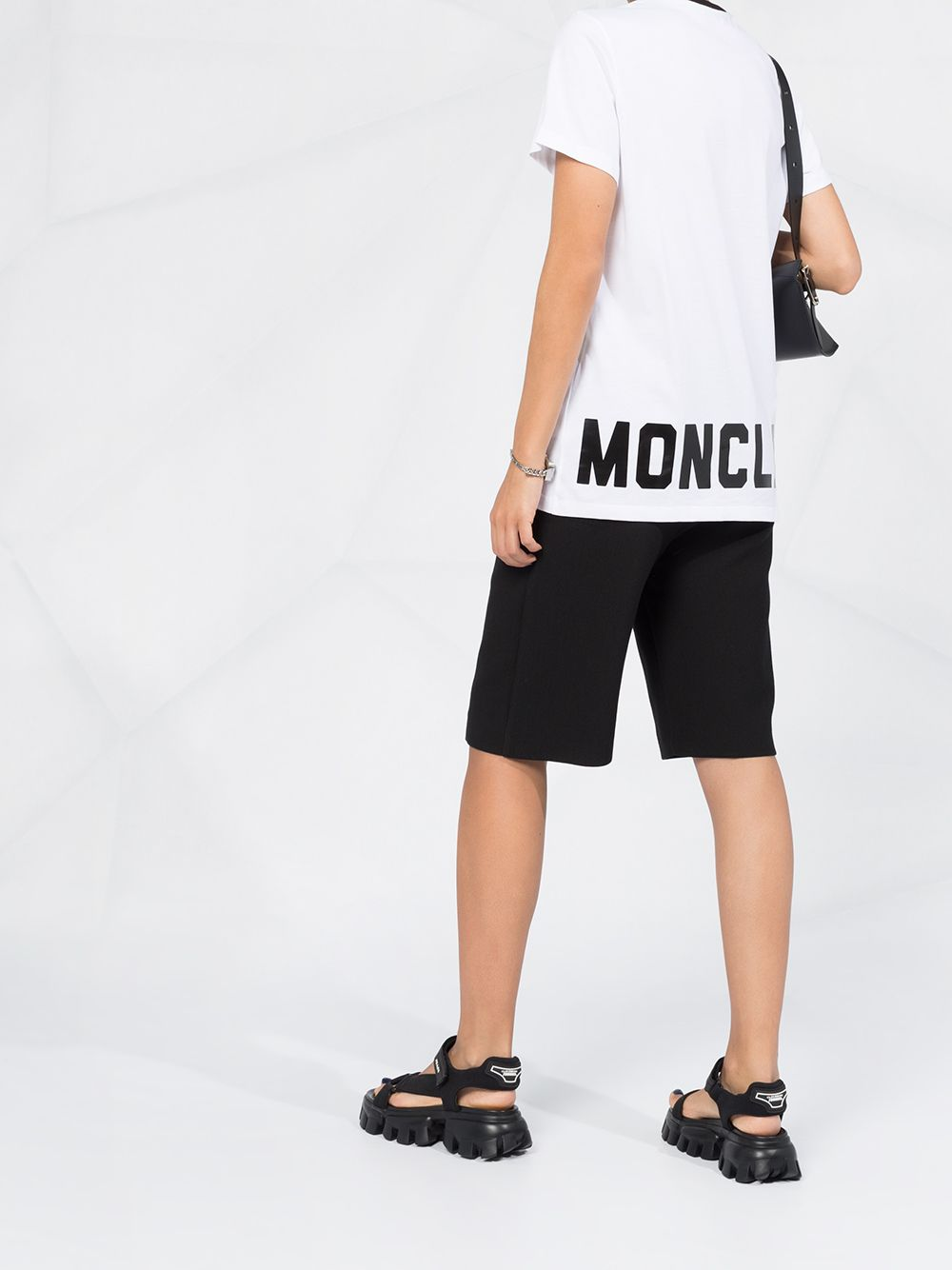 white cotton short sleeved t.shirt with contrasting black collar MONCLER |  | 8C778-10-V8161001