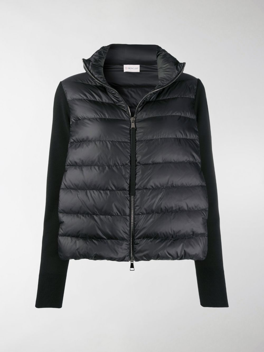 black virgin wool and feather down panelled puffer jacket MONCLER |  | 9B511-00-A9018999