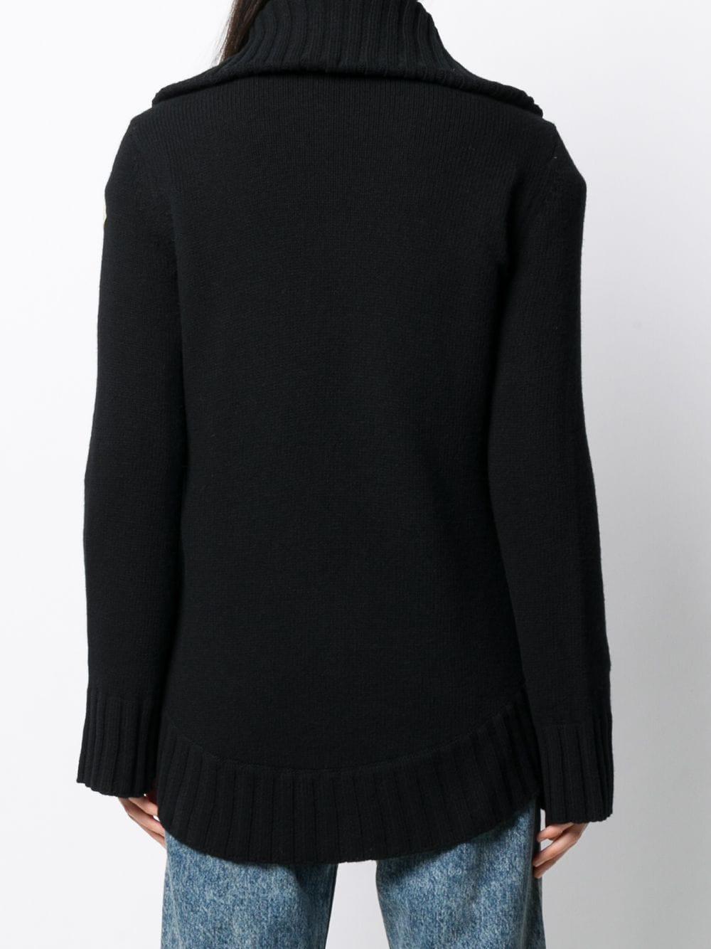 giacca in maglia di lana vergine e imbottitura in piuma MONCLER | Cardigan | 9B516-00-A9197999