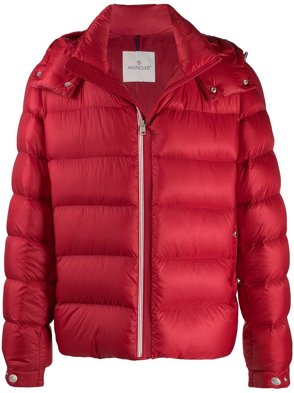 piumino rosso Arves in nylon imbottito e dettagli rossi MONCLER   Piumini   ARVES 1A201-00-53334455