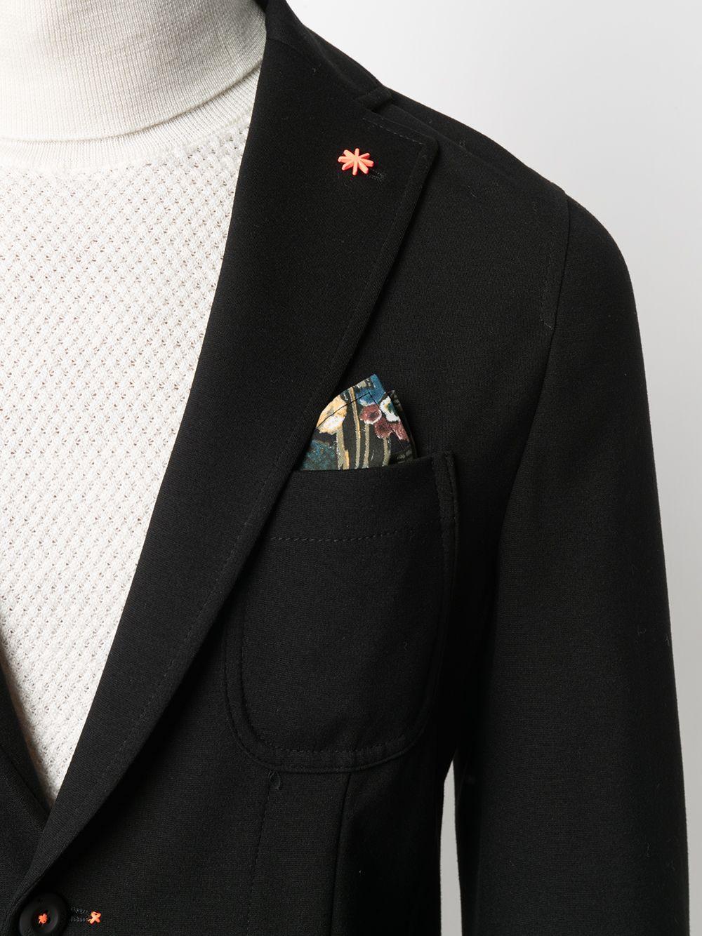 Blazer nero monopetto con revers a dente Manuel Ritz | Giacche | 2932G2571MA-20369499