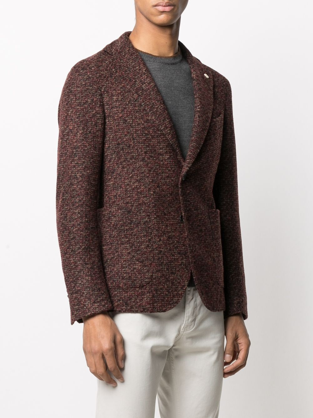 brown single-breasted blazer featuring notched lapels MANUEL RITZ |  | 2932G2728M-20370219