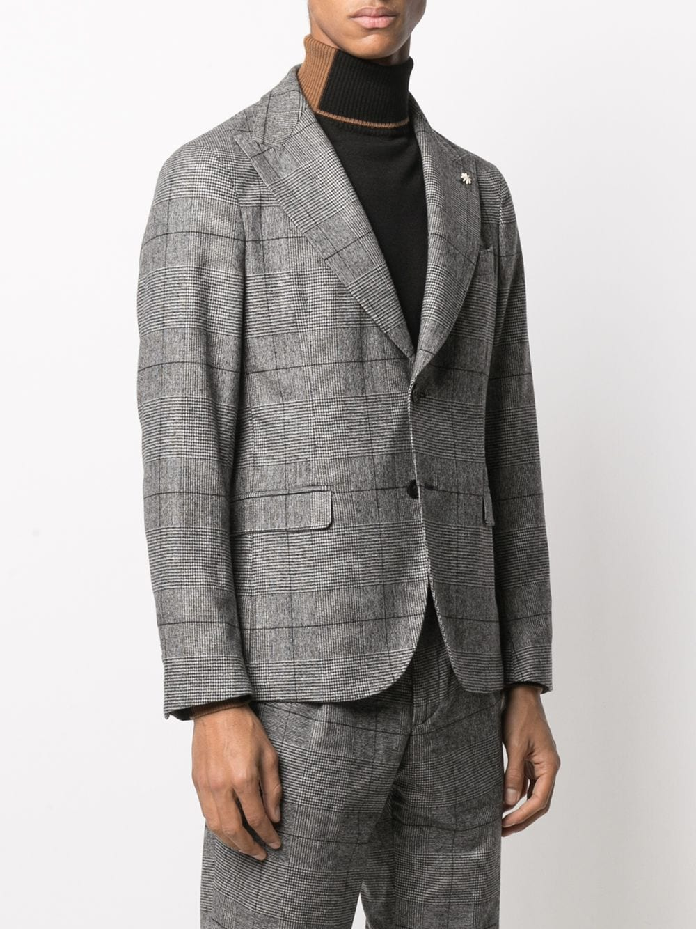 Black and white virgin wool blend blazer featuring Prince of Wales check pattern Manuel Ritz |  | 2932G2748-20356497