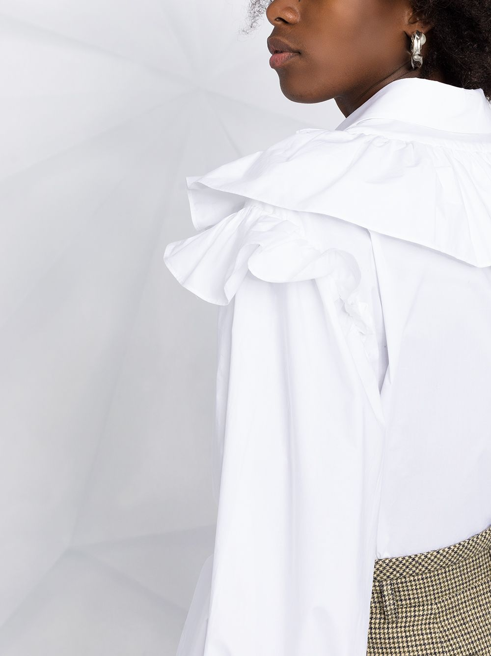 White cotton blouse featuring lace panelling P.A.R.O.S.H. |  | D380483-CAKTUNSI001