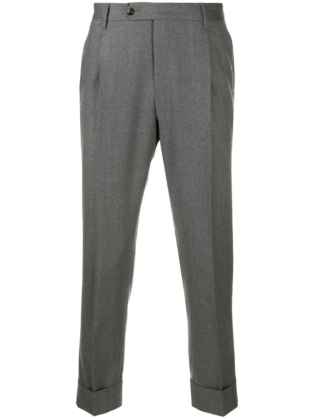 Grey cotton blend pleat-detail trousers PT01 |  | COAFFKZ00CL1-CM130230