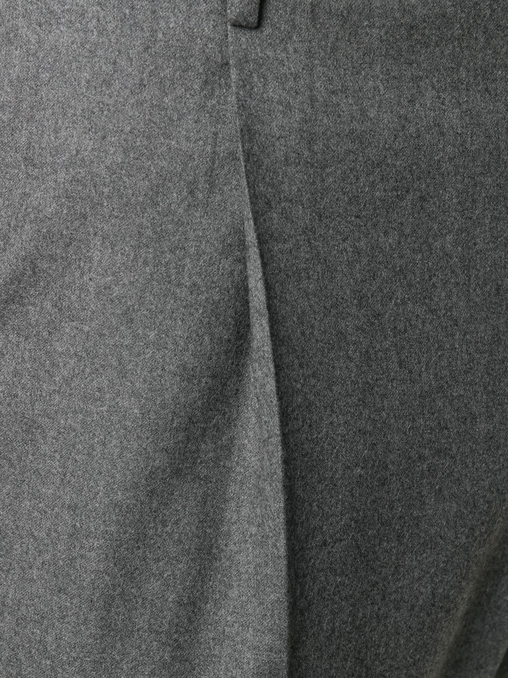 Pantaloni grigi con pieghe in misto cotone PT01 | Pantaloni | COAFFKZ00CL1-CM130230