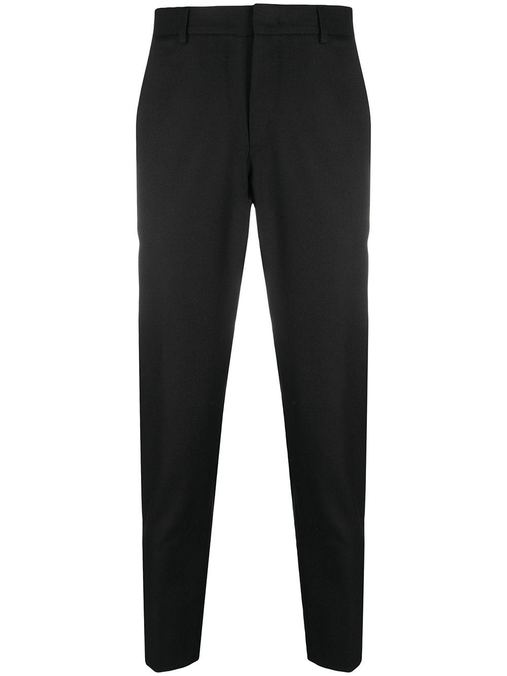 Black virgin wool blend tapered-leg tailored trousers  PT01 |  | COASEPZ10KLT-PO630990