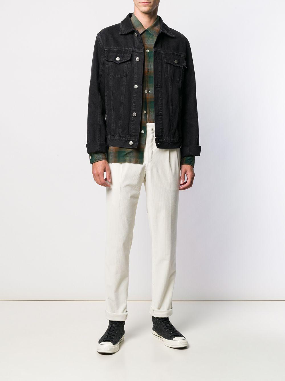 Pantaloni slim fit in velluto a coste di cotone elasticizzato bianco PT01 | Pantaloni | COHS22ZS0CL2-PG910010