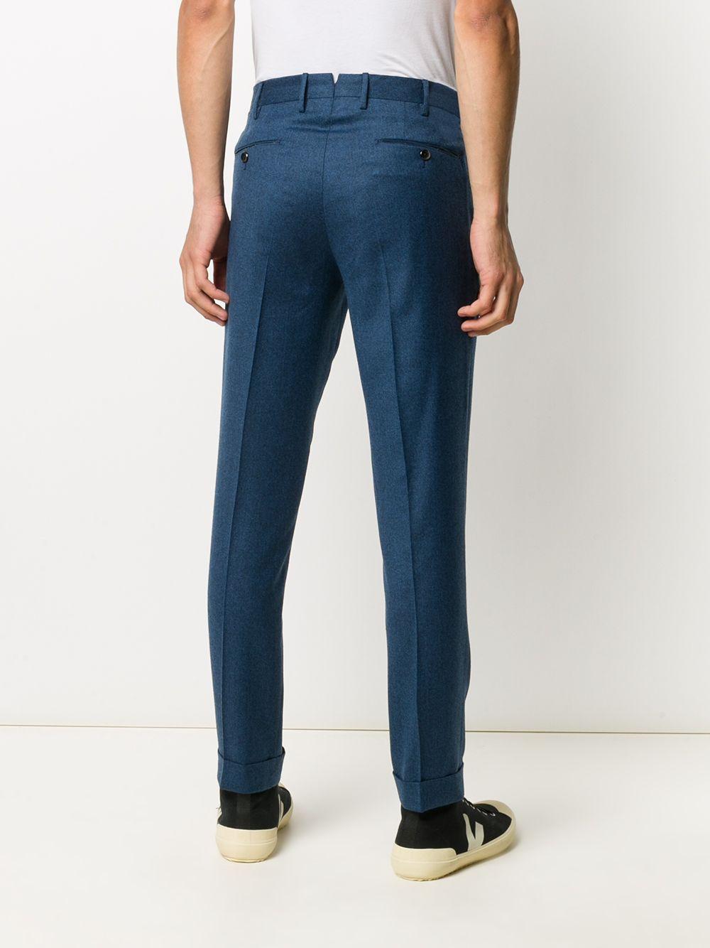 Pantalone dritto blu avion in lana con doppia pence PT01 | Pantaloni | COHS22ZS0CL2-RE840345