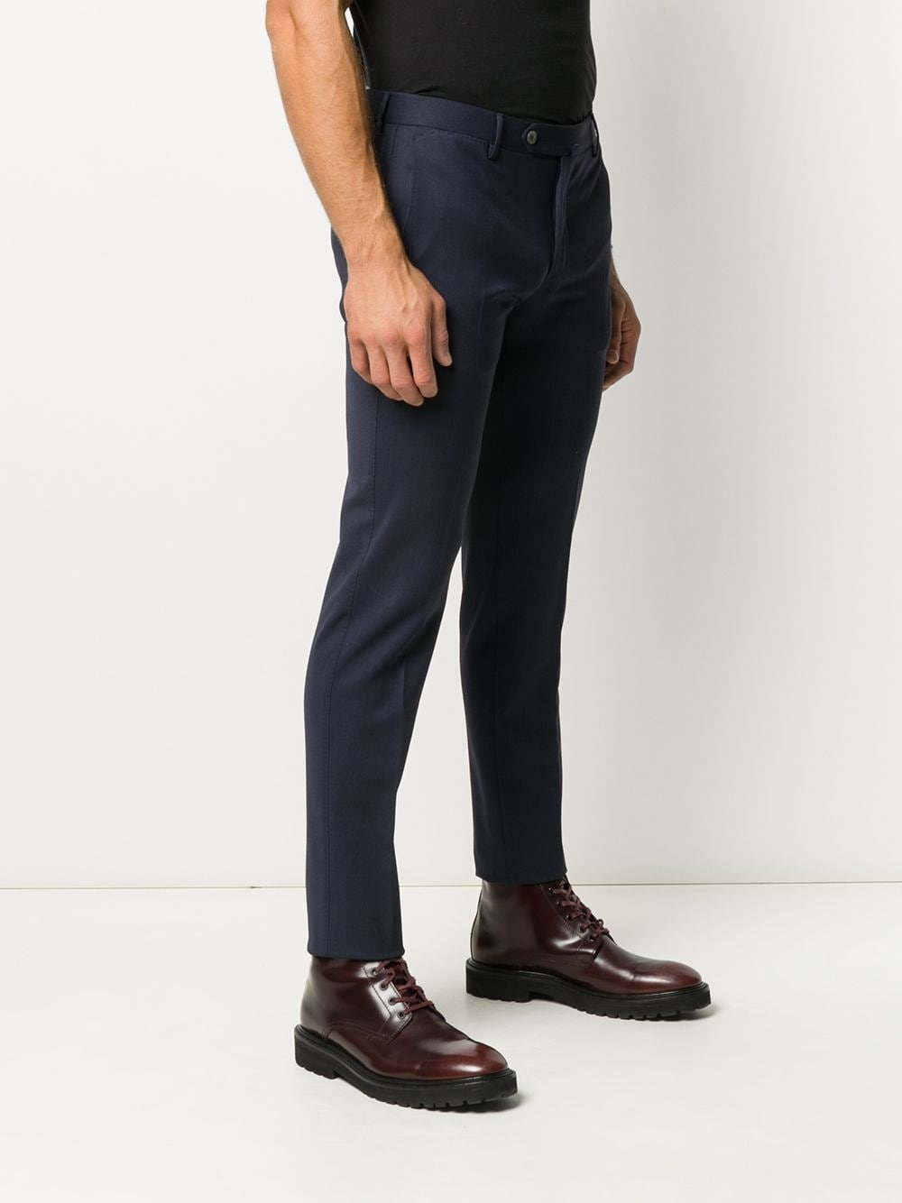 Navy wool blend slim-fit chinos  PT01 |  | COKSTVZ00TVL-PO360340