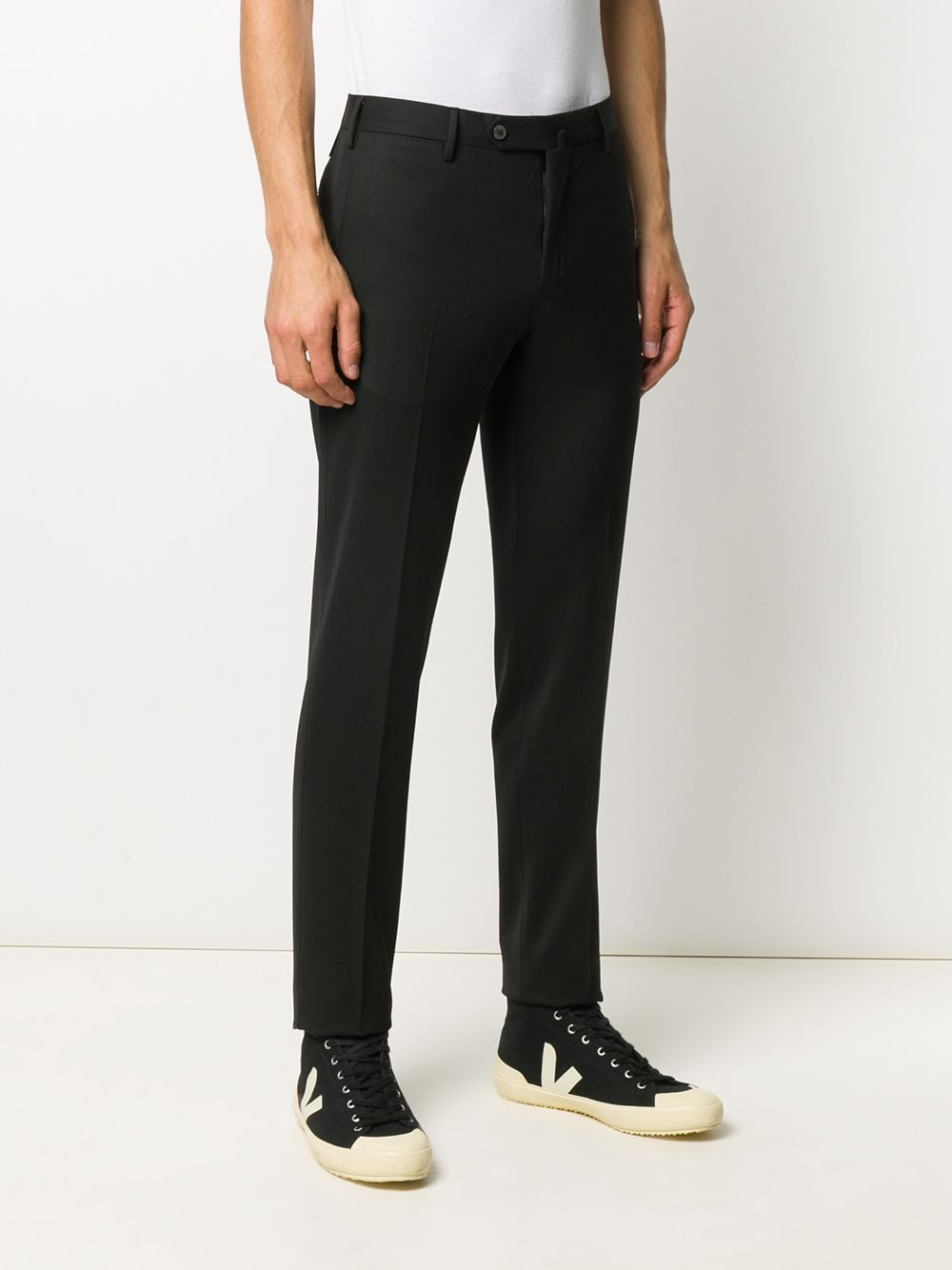 Black skinny trousers in polyester and stretch wool  PT01 |  | COKSTVZ00TVL-PO360990