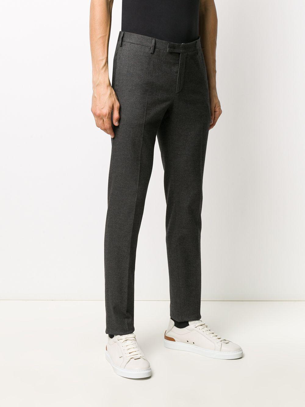 Pantalone in cotone grigio antracite con fantasia a microquadretti PT01 | Pantaloni | COKSZEZ00CL1-BB310260