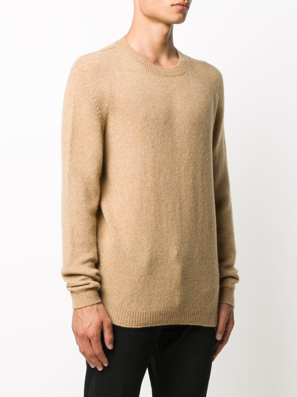Maglione girocollo in misto lana merino cammello ROBERTO COLLINA | Maglieria | RD4010105