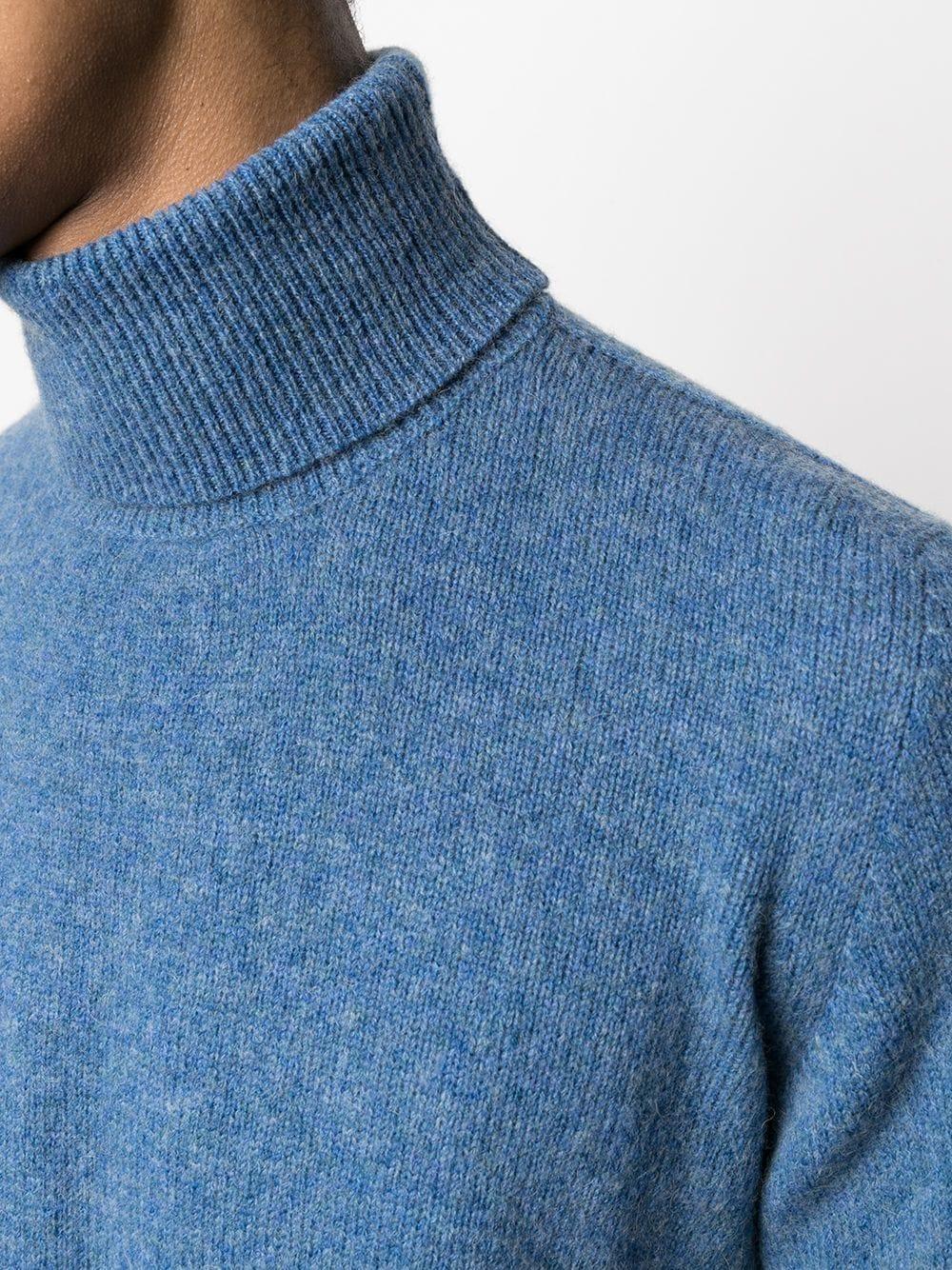 Maglione girocollo in lana merino blu ROBERTO COLLINA | Maglieria | RD4010314