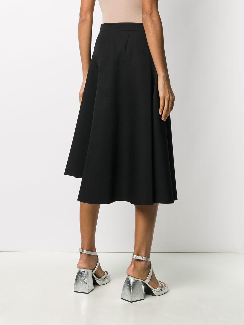 Flared asymmetrical black skirt  ROCHAS |  | ROPR3503A-RR001001