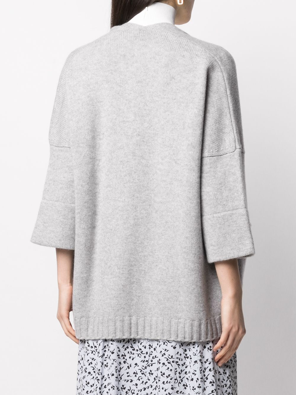 cloud grey wool-cashmere blend patch-pocket cardigan SNOBBY SHEEP |  | 20X.80910730