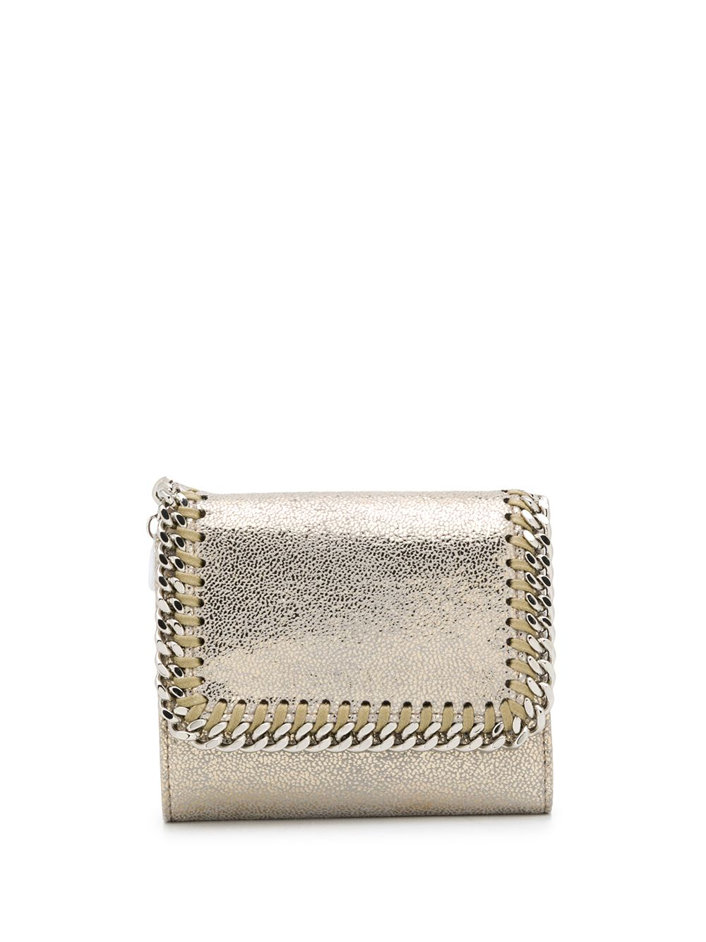 Gold-tone Falabella squared metallic wallet with gold chain STELLA MC CARTNEY |  | 431000-W8745T702
