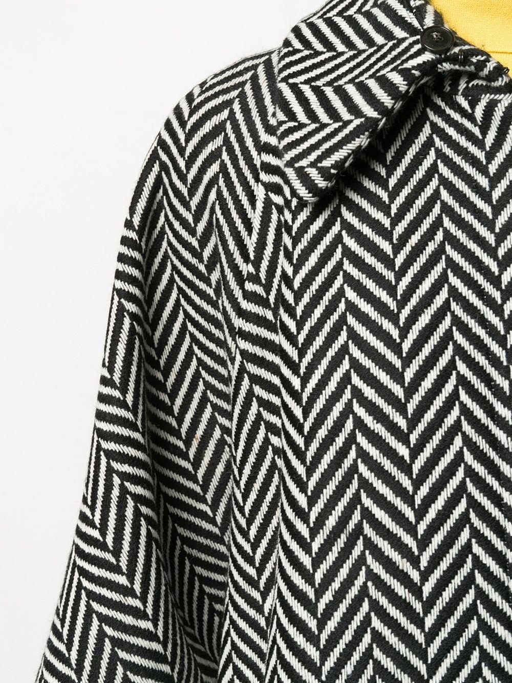 mantella in lana bianca e nera con motivo a spina di pesce STELLA MC CARTNEY | Cappotti | 601694-SPB101000