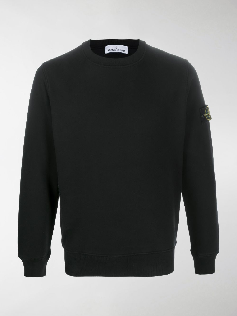 Black cotton sweatshirt featuring round neck STONE ISLAND |  | 731563020V0029