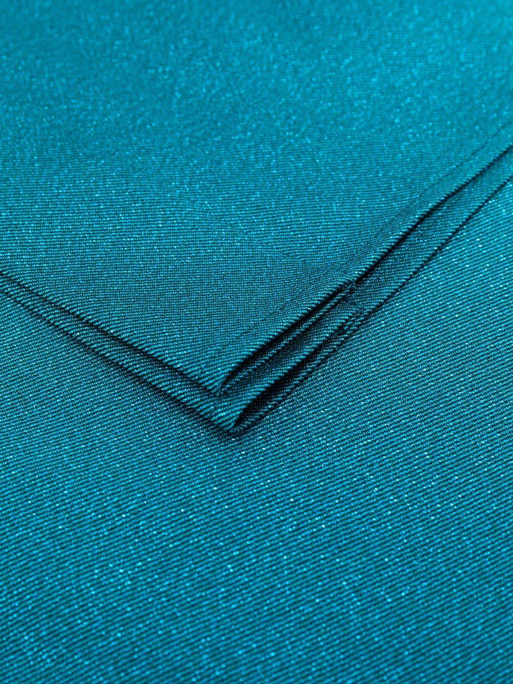 Petroleum blue oversized scarf featuring glitter detailing TALBOT RUNHOF |  | KITTY9-DG15451