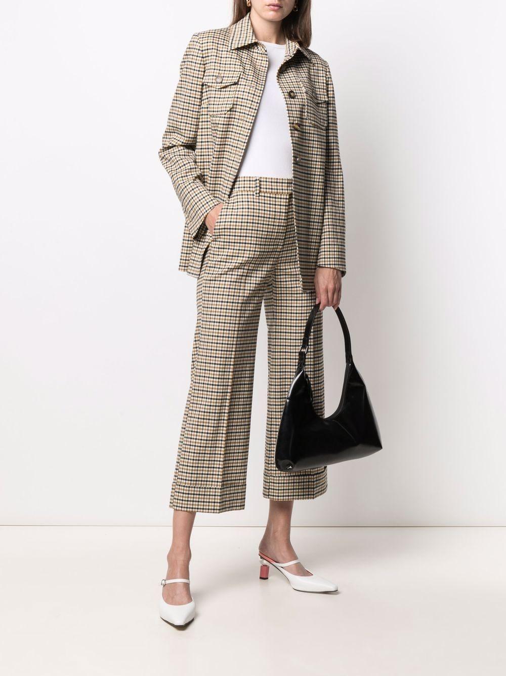 camicia a quadri beige e nera in lana vergine ALBERTO BIANI | Camicie | II873-WO215364