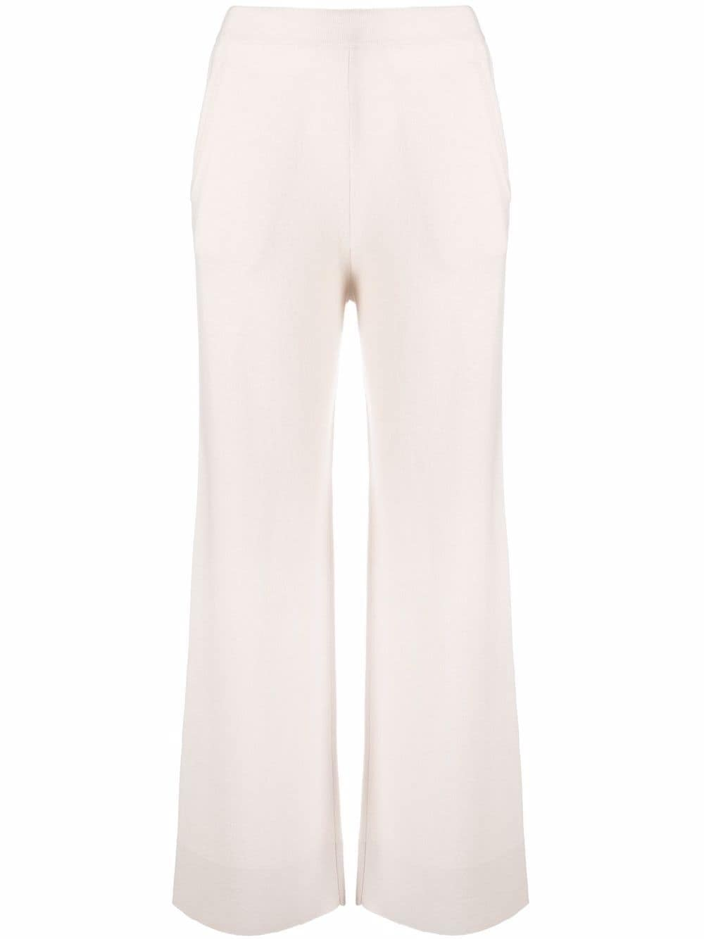 Light beige virgin wool and cashmere wide-leg fine-knit ALLUDE |  | 215/1700641